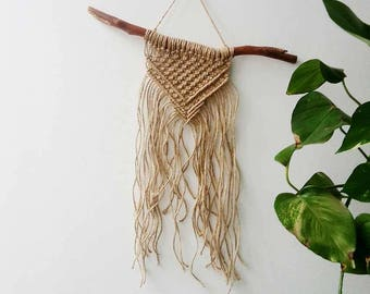 Natural Jute Macrame Wall Hanging by Courtney Blackwell