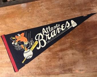 RARE 1966 Atlanta Braves Felt Pennant