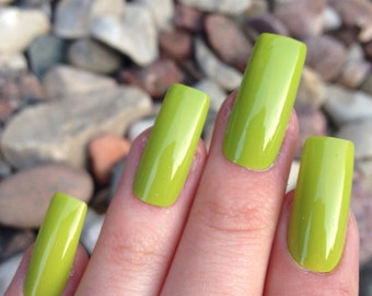 Clearance   Lime Green Nails