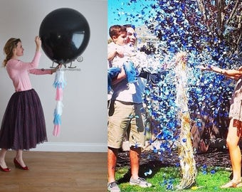 POP Gender Reveal Balloon Giant 36 Inch 3 feet Balloon reveal party  balloon pop  baby shower  baby Boy Or Girl   party decor