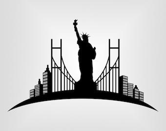 Statue of liberty Svg, USA Svg, Vector art, Cricut, Silhouette Cameo, die cut, instant download, Digital Cut, Print Files, Ai, Pdf, Svg