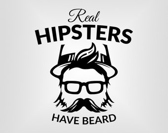Hipsters Svg, Tumblr, Bearded, T-shirt Graphic Svg, Cutout, Vector art, Cricut, Silhouette Cameo, die cut, Digital Cut, Print Files, Svg