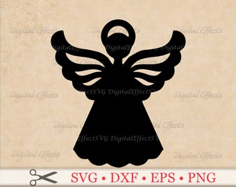ANGEL SVG File, Christmas Angel Svg, Png, Eps, Dxf Files, Angel Clipart,  Angel Vector Angel Silhouette Studio, Cricut Svg Files, Cut Files