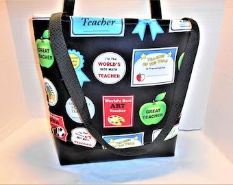 Teachers gifts, Teacher's Tote Bag, Teacher Tote, Teacher Carry All, Teacher work bag, Educator tote, Teacher Presents, Teacher School bag