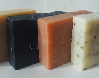 Organic Soap Bars, Save on 4 Soaps, Vegan Soap Bars, Cold Process Soaps, Bath Soap Bars, Organic Soaps