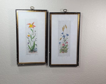 Floral Paintings on Rice Paper