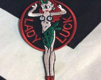 Classic Lady Luck Logo Pin Up Girl