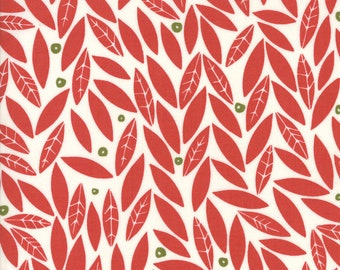 Moda Fabric - Merrily Holly by Gingiber - Berry - 48212 12 - Cotton fabric by the yard