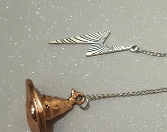 Wizard hat bookmark,silver and gold charm,gold faceted crystal beads, books,reading,mothers day,lightning bolt