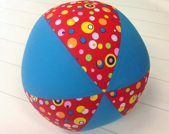 Balloon Ball Fabric, Balloon Ball Cover, Portable Ball, Travel Ball, Inflatable, Sensory, Special Needs, Coloured Bubbles, Aqua,Eumundi Kids