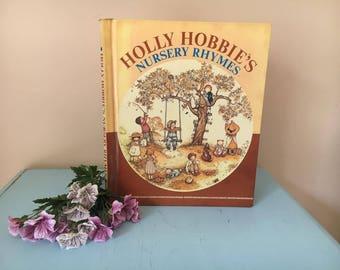 vintage retro Holly Hobbies Nursery Rhymes printed 1977 illistrated