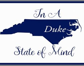 Duke, University, Blue Devils, decor, wall decor, home decor, dorm art, graduation, gift, housewarming gift, student, dorm, North Carolina