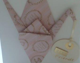 Origami Peace Crane Card