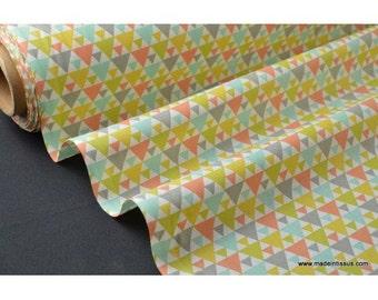 drawing tigaya printed cotton Poplin fabric mixed x50cm