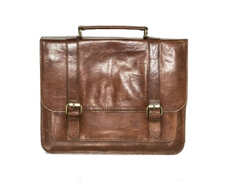 Coco Leather Laptop Messenger Bag | Work Satchel