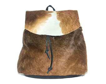 Cowhide Rucksack | Genuine Cow Hair & Premium Leather