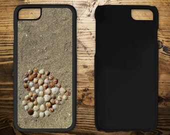 Heart in sand, iPhone 7 case, iPhone case, iPhone 7 plus, iPhone 6/6s, iPhone 5c, iPhone 5/5s, iPhone 4/4s,