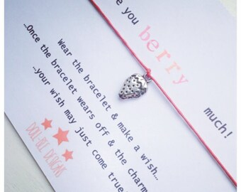 Wishing Bracelet 'Love You Berry Much!' Wish Bracelet Gift