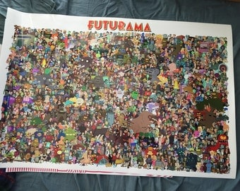 "Futurama Poster Ultra Hi-Quality Art Print on Archival Paper 24x36"" Made in NYC"