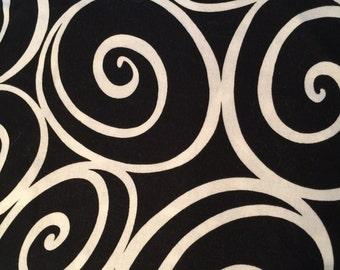 Black And White Swirl Fabric Etsy