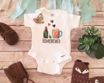 Funny Baby Onesie®, Baby Boy Outfit, Home Brewed Baby Clothes, Funny Romper, One Piece, Newborn Onesie®, Baby Shower Gift,Beer Baby Bodysuit