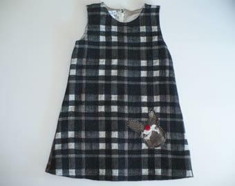 GIRLS PINAFORE, special occasion, winter dress, girls dress, girl, birthday dress, childrens clothes, handmade