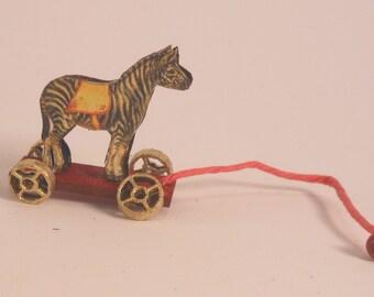 Miniature 1:12 Scale Zebra Pull-Toy KIT