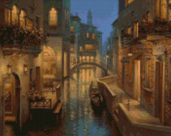 Venice Twilight Cross Stitch pattern PDF - Instant Download!