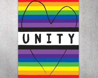 Unity PRINTABLE Protest Poster   Equal Rights Protest Sign
