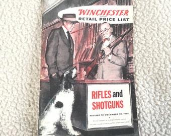 Winchester 1955 Retail Price List - Rifles & Shotguns Catalog Excellent!
