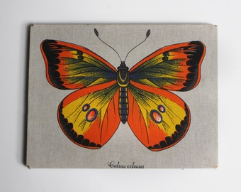 Vintage Butterfly Print on Fabric