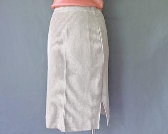 Vintage midi pencil knit skirt size S/M