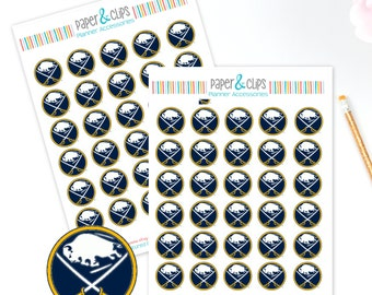 30 Buffalo Sabres Hockey Reminder or Planner Stickers