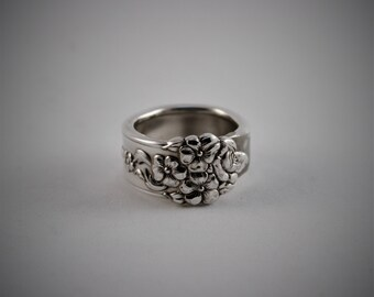 Antique Spoon Silverware Ring