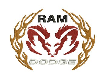 dodge ram logo etsy. Black Bedroom Furniture Sets. Home Design Ideas