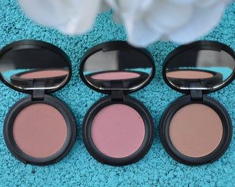 Organic Blush, 3 shades, free from harsh chemicals, vegan, cruelty free, non clogging