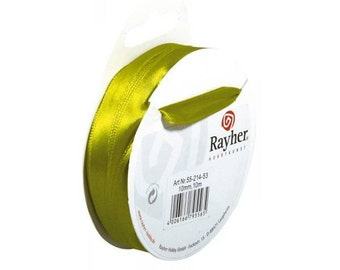 Anise green satin ribbon, 10 m, 10 mm code: RAY-335521453