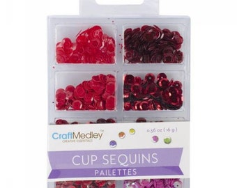 Cup Sequins Sequins, Rouge Code: NM-GC457-H
