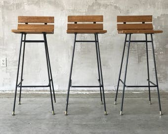 Vista of california iron barstools