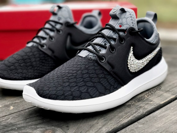 675cd9fbd94c 30%OFF Blinged Swarovski Nike Roshe Two Shoes Custom by THEBASICBEESHOP