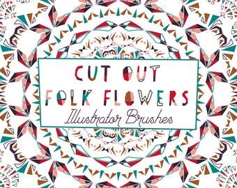 Vector Brushes, Adobe Brushes, Illustrator Brushes, Pattern Brushes, Geometric Brushes, Wreath Clipart, Border Clip art, Commercial Use