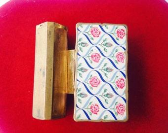 Vintage Stratton enamel lipstick holder and mirror