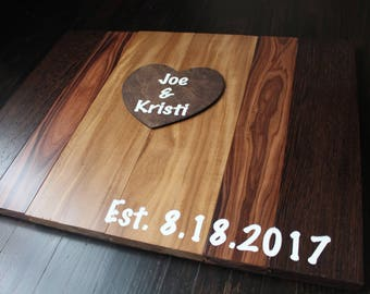 Rustic Wooden Wedding Guest Book