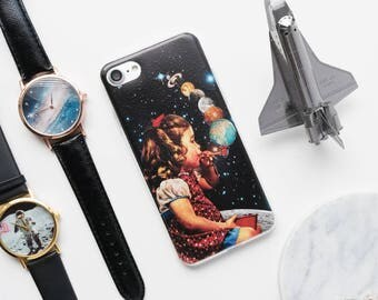 iPhone Case - Bubble Planets - iPhone 7 Case, iPhone 6 Case, iPhone 6s Case, Bubble iPhone Case, Vintage iPhone Case, Art iPhone Case