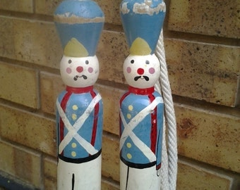 50% off Antique Skipping Rope with soldiers dressed in 1840 Argentina Military Uniform