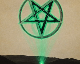 Neon Pentagram Light