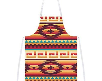 Native American Pattern Red All Over Apron