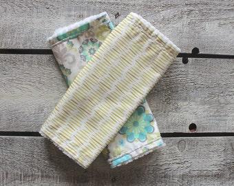Organic Baby Burp Cloths, Burp Cloth Set, Baby Girl Burp Cloths, Modern Burp Cloths, Chenille Burp Cloths, Baby Shower Gift