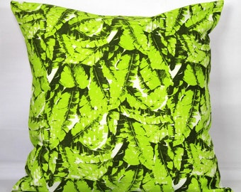 Leaf pillow green throw pillow covers 18x18 holiday pillows christmas throw pillows green 18x18 pillow covers 20x20 green pillow cover 16x16