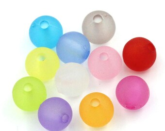 100 Acrylic beads spacers 6 mm colour mix